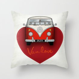 Van Love Throw Pillow