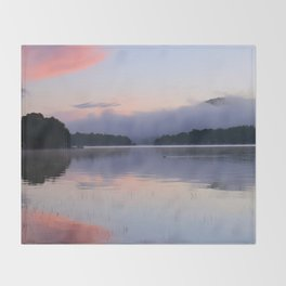 Tranquil Morning in the Adirondacks Throw Blanket