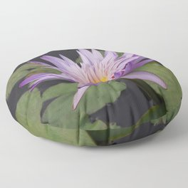 Rosy lavender water lily Floor Pillow