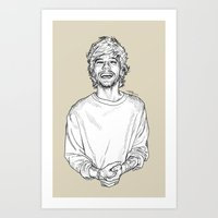 louis tomlinson Art Prints featuring Louis Tomlinson  by Cécile Pellerin