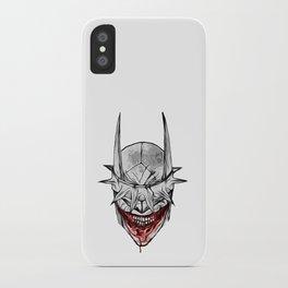 Bloody Bat Laughing iPhone Case