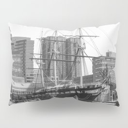 A US Frigate Ship in Baltimore, MD Pillow Sham