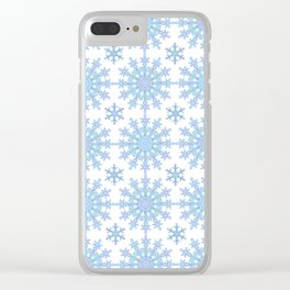 Snowflake Medallion Pattern 1 Clear iPhone Case