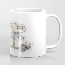 vintage camping bus painting illustration Coffee Mug