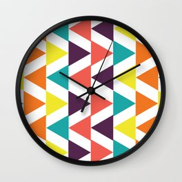 Pattern: Triangles 3 Wall Clock