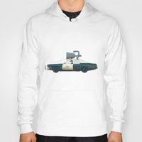 blues brothers Hoodies featuring The Blues Brothers Bluesmobile 2/3 by Staermose
