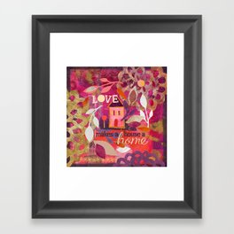 Love Makes a House a Home Framed Art Print