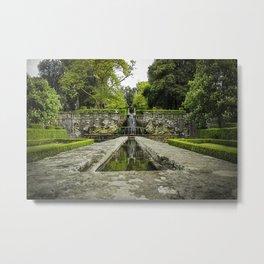 The villa Lante garden's Metal Print