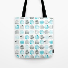 Graphic circles with texture Tote Bag