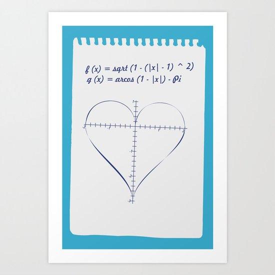 Love Equation Art Print