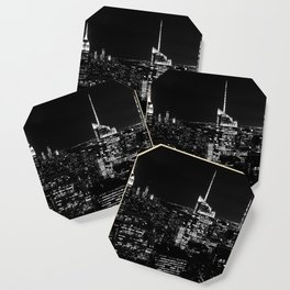 New York City B&W Coaster