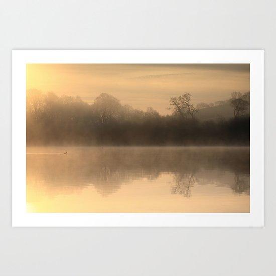 Misty Tranquility Art Print