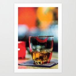 Lipstick Whiskey Neat Art Print