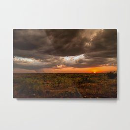 West Texas Sunset - Colorful Landscape After Storms Metal Print