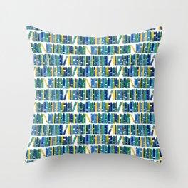 Art bookcase Throw Pillow