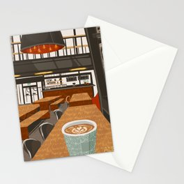 Coffee at The Forks Stationery Cards