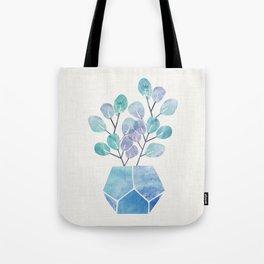 Blue Bonsai - Potted Plant Tote Bag