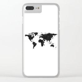 World Map Wall Art,World Map Canvas,World Map Print,World Map Poster,Printable Art,World Map Svg,Wat Clear iPhone Case