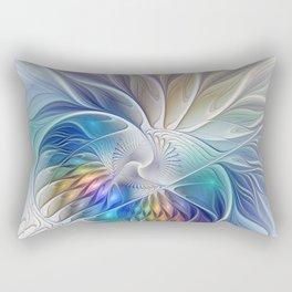 Floral Fantasy, Colorful Fractal Art Rectangular Pillow