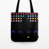 spaceman Tote Bags featuring Spaceman by Greg-guillemin