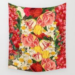 Spring Floral Pattern Wall Tapestry