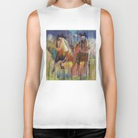 horses Biker Tanks featuring Horses by Michael Creese