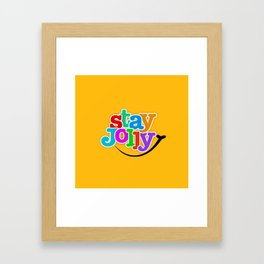 Stay Jolly - Key to Happiness Framed Art Print