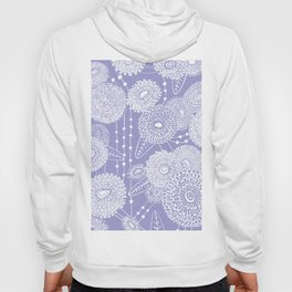 Asters rain in lilac color Hoody