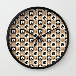 Circles within a Circle - Beige Wall Clock