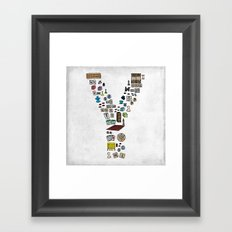 letter Y - games Framed Art Print