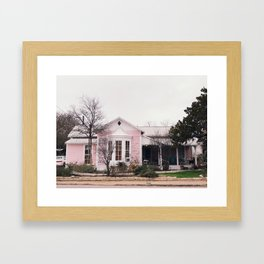 Pink House Gruene, TX Framed Art Print