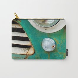 Rusty Turquoise Car Carry-All Pouch