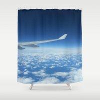 flight Shower Curtains featuring Flight by GF Fine Art Photography
