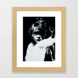 Pensive Gaze Framed Art Print