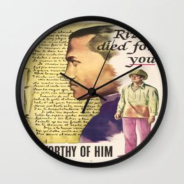 Vintage poster - Rizal died for you Wall Clock
