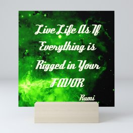 Everything Is Rigged - Rumi Mini Art Print