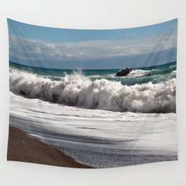 Magic Waves on the Isle of Sicily Wall Tapestry
