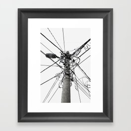 Electrica Paranormal Framed Art Print