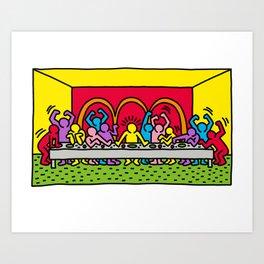 Happy Supper Art Print