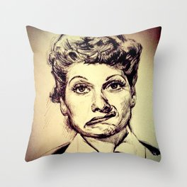 LUCILLE BALL Throw Pillow