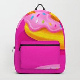 Pink Glazed Donut Backpack