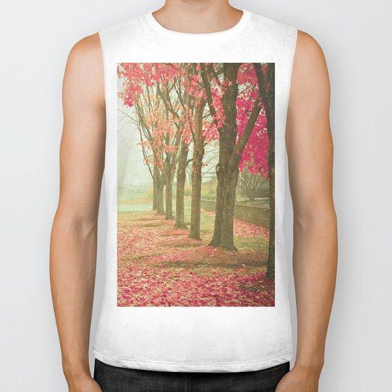 Scarlet Autumn Biker Tank