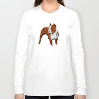pitbull Long Sleeve T-shirts featuring Pitbull by Styleuniversal