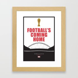 "England Football Team Quote ""it's coming home"" World Cup 2018 Framed Art Print"