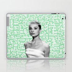 audrey with arabic calligraphy background Laptop & iPad Skin