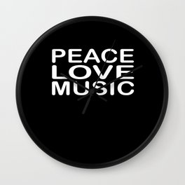 Peace Love Reggae Wall Clock