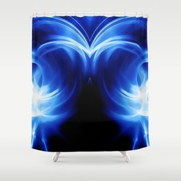 abstract fractals mirrored reacc80c82 Shower Curtain