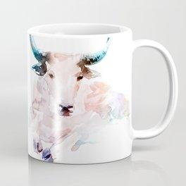 Pink bull / Abstract animal portrait. Coffee Mug