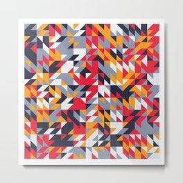 Bold Abstract Shapes Metal Print