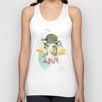 war Tank Tops featuring War girl by Ariana Perez